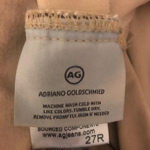AG full panel skinny medium wash maternity jeans